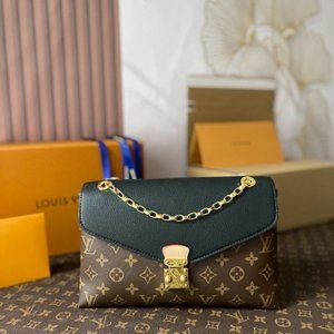 Louis Vuitton Black Monogram Pallas Chain Bag